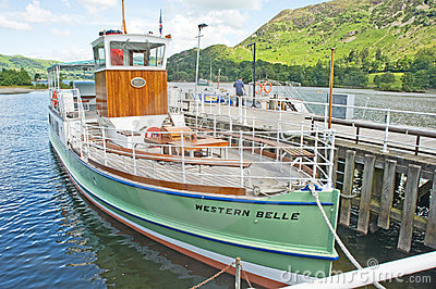 Ullswater Steamers: tourist attraction. Editorial Image