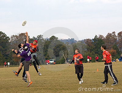 Ultimate Frisbee Players Editorial Stock Image