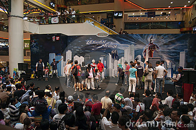 Ultraman Mebius and Cosmos Meets Fans Session Editorial Stock Image