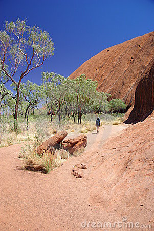 Uluru (Ayers Felsen) Unterseiten-Weg Redaktionelles Stockfoto