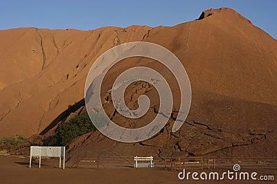 Uluru/Ayers Rock Climb Entry Point Editorial Photography
