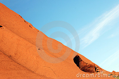 Uluru - Ayers Rock fragment Editorial Stock Photo