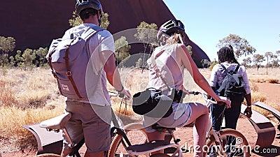 Uluru Bike Ride stock footage