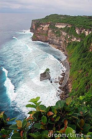 Uluwatu cliff in Bali, Indonesia
