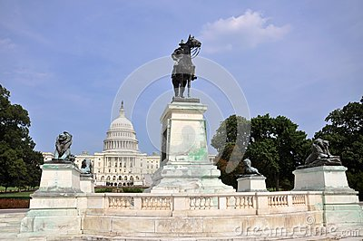 Ulysses S. Grant Memorial in front of Capitol, Washington DC