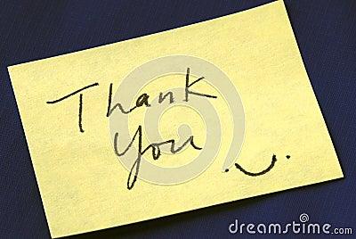 Um agradecimento você para anotar