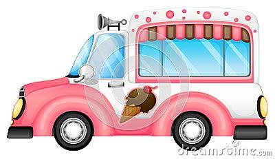 Um carro do gelado