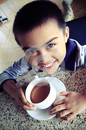 Um copo do chá