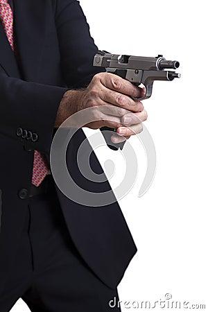 No meio do tiro