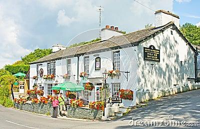 Um pub inglês perfeito. Imagem Editorial