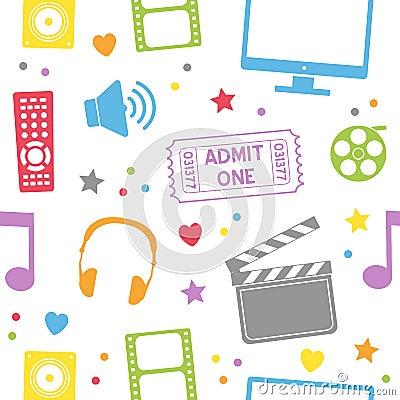 Teste padrão sem emenda do filme do cinema