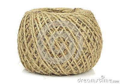 Uma bola da corda marrom