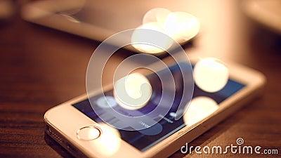Uma chamada entrante a um telefone celular 4K 30fps ProRes filme