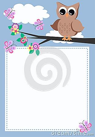 Uma coruja com uma mensagem