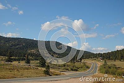 Uma estrada em Boulder, Colorado