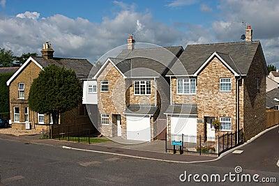 Uma fileira de casas de campo inglesas modernas imagens de stock imagem 12785964 - Imagenes de casas inglesas ...