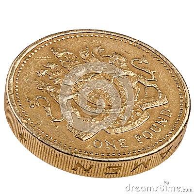 Uma moeda de Ingleses da libra