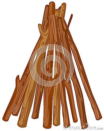 Uma pilha de madeira