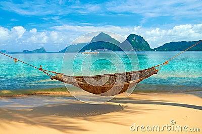 Uma rede na praia
