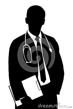 Uma silhueta de um doutor