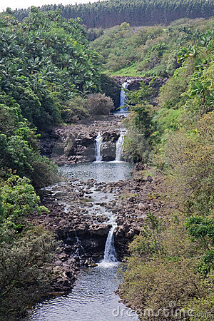 Umauma Falls at World Botanical Gardens, Hawaii