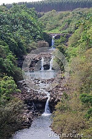 Umauma Falls at World Botanical Gardens, Hawaii