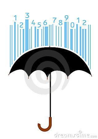 Free Umbrella And Bar-code Stock Photography - 13702592