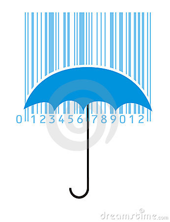 Free Umbrella And Barcode Royalty Free Stock Photos - 13338388