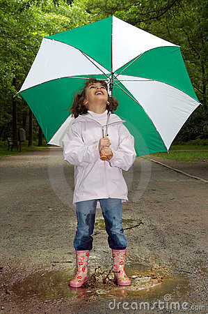 Free Umbrella And Boots Royalty Free Stock Photography - 3240607