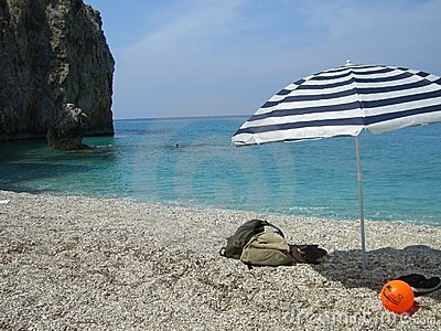 Umbrella on beach