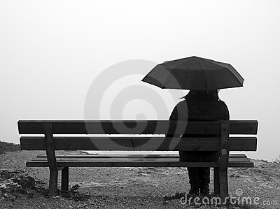 Umbrella and Bench