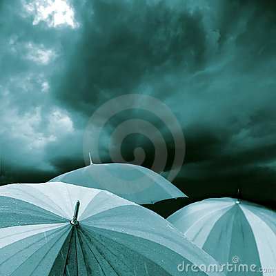 Free Umbrella Blue Stock Image - 10130041
