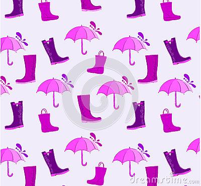 Umbrella and boots pattern