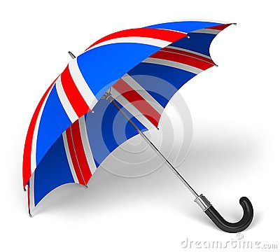Umbrella with British flag