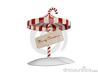 Umbrella of christmas