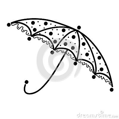 Umbrella design, black silhouette