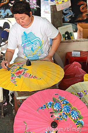 Umbrella Factory Editorial Image