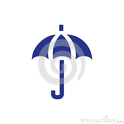 Umbrella icon stock vector illustration flat design style Vector Illustration