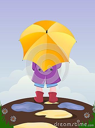 umbrella kid