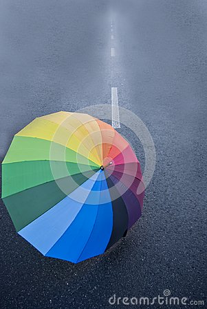 Free Umbrella On The Road Royalty Free Stock Photo - 104792495