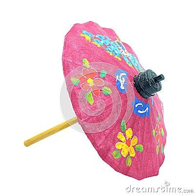 Free Umbrella Paper Isolated On White Stock Image - 102672921