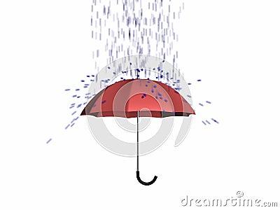 Umbrella protect from rain 3d