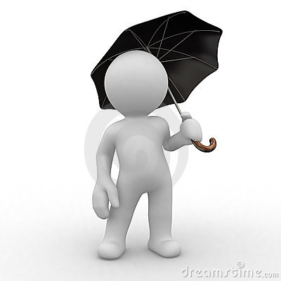 Free Umbrella Protection Royalty Free Stock Photo - 3304715