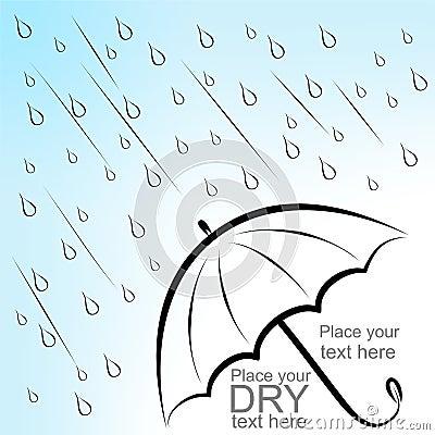 Dry text under umbrella