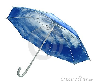 Umbrella with sky texture