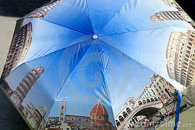 Umbrella souvenir of Italy