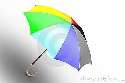 Umbrella (unfolded, ranbow colored)