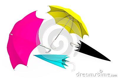 Umbrellas CMYK