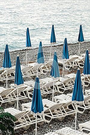 Umbrellas on the coast of France