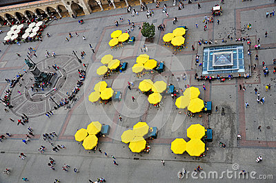 Umbrellas by Market Square